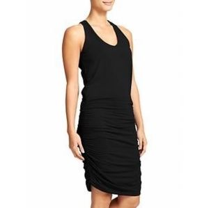Athleta - Black Ruched Racerback Dress